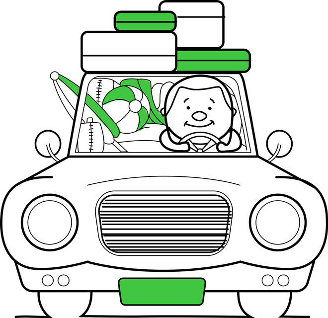 Grüne Koffer, Handgepäck und Koffersets