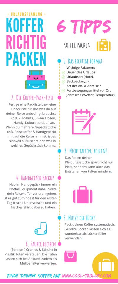 6 Tipps für's Koffer packen