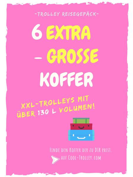 6 XXL Koffer mit Rollen